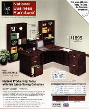 Picture of computer desks and chairs from NBF - National Business Furniture catalog