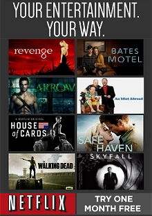 Picture of new video rental releases from Netflix catalog