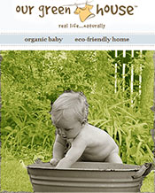 Picture of organic baby items from Our Green House catalog