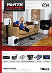Picture of parts express catalog from Parts Express catalog