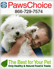 Picture of natural pet care from Paws Choice - Pet Food & Treats catalog