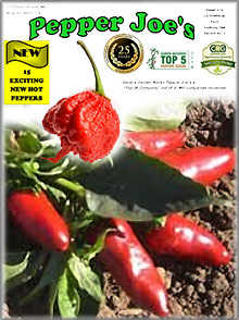 Picture of pepper seed catalog from Pepper Joe's catalog