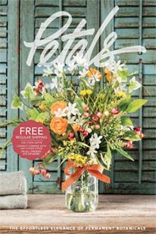 Picture of silk flower arrangements from Petals catalog