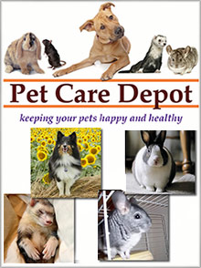 Picture of pet rabbit supplies from Pet Care Depot catalog