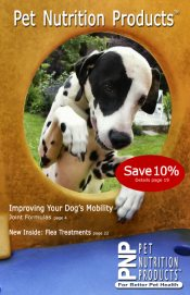 Picture of natural pet care from Pet Nutrition Products catalog