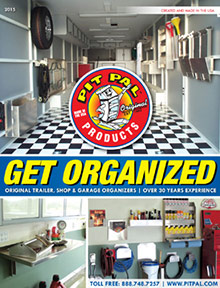 Picture of garage organization from Pit Pal Products catalog