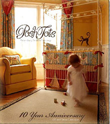 Picture of luxury baby bedding from Posh Tots catalog