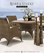 Picture of luxury outdoor furniture from Robb & Stucky Patio catalog