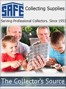 Picture of collectible display cases from SAFE Collecting Supplies catalog