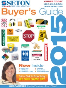 Picture of seton signs from Seton.com catalog