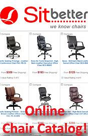 Picture of office chairs for bad backs from Sit Better catalog