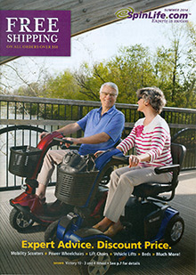 Picture of electric wheelchairs from SpinLife.com catalog