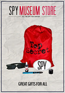 Picture of international spy museum store catalog from Spy Museum Store catalog