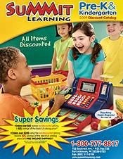 Picture of preschool supplies from Summit Pre K & Kindergarten catalog