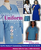 Picture of nursing scrubs from Your Uniform Warehouse catalog