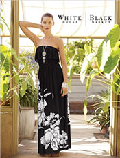 Picture of black and white fashion from White House Black Market catalog