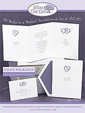 Picture of inexpensive wedding invitations from Willow Tree Lane catalog
