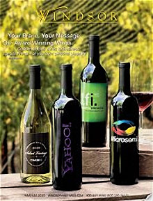 Picture of custom wine labels from Windsor Vineyards catalog