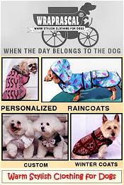 Picture of dog jackets from Wraprascal.com catalog