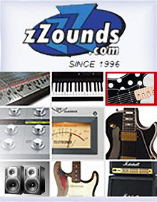 Picture of Marshall amplifiers from zZounds Music catalog
